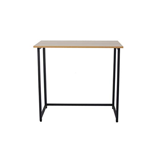 Neo Neo Foldable Compact Computer Home Study Office Student Laptop Table Wooden Desk (Walnut)