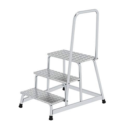 Aluminium-Arbeitspodest, mit Handlauf, starr, 3 Stufen - 50043