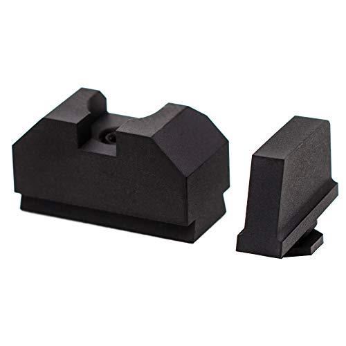 Zev ZT-SIGHT-300-CW-B-CW-B Sight Set .300 Black Front Cow Rear Gun Stock Accessories