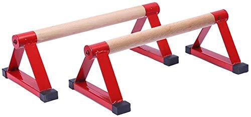 Barra de Dominadas Conjunto de triángulos de madera, barra de empuje portátil, barras pequeñas invertidas, soporte de mango para hombres, para hombres, soporte max a 660 libras ,Multifuncional Workout