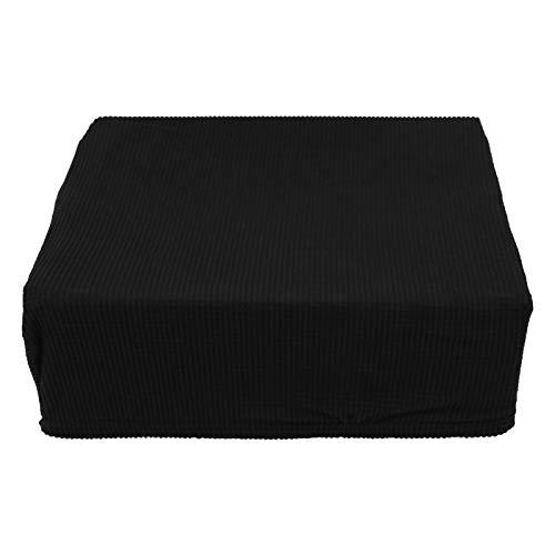MILISTEN 1 Stk. Stretch Piano Hocker Bezug Bankbezüge Einfacher Stil Klaviersitzbezug Elastischer Staubbezug für Bank Schwarz