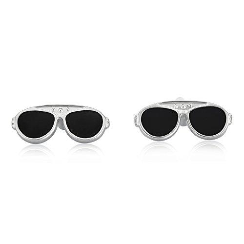 Shaze Gemelos de gafas de sol plateadas para hombre