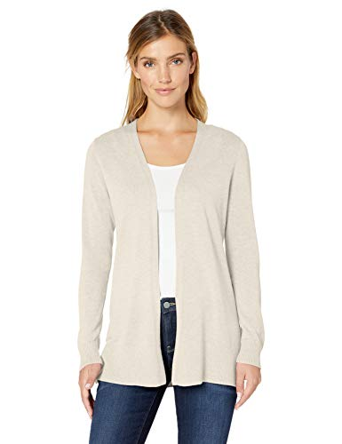 Amazon Essentials Lightweight Open-Front Sweater Strickjacke, Beige (Oatmeal Heather), X-Small