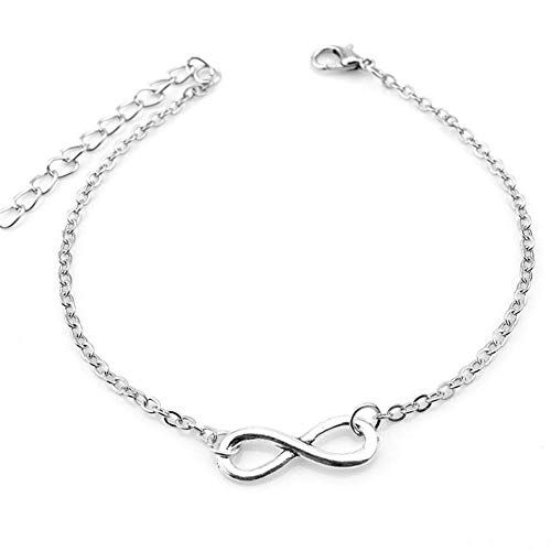 PULABO Anklets Chain Women Lucky 8 Pendant Ankle Bracelet Barefoot Sandal Girl Foot Jewelry Accessories Love Gift Fine Craftsmanshipdurable