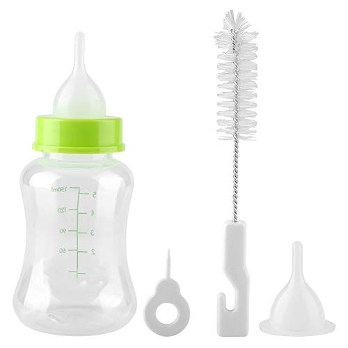 Aufzuchtflasche 150ml Haltbares Silikon Wasser Milch Flasche Neugeborene Pet Kleine Hunde Welpen Katze Milch Fläschchen Milch Feeder mit Nippel Pinsel Set