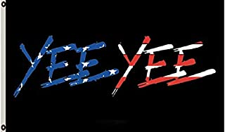 Faylagee-yx American Yee Yee Black Flag 3'X5' Banner Garden Flag Two Metal Grommets