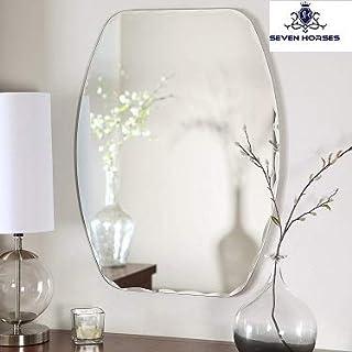 SEVEN HORSES Wall Mirror (Glass_white_18 x 24)