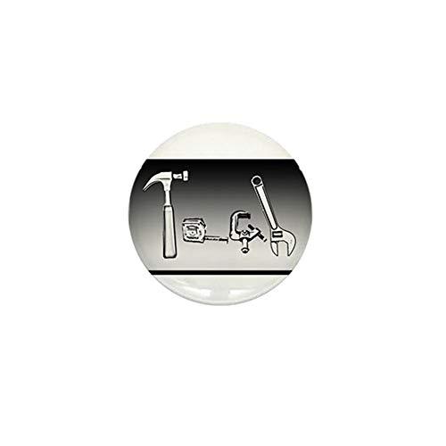 Botones redondos de reconocimiento de 4,5 cm, herramientas tecnológicas con clip para insignia decoraciones, alfileres – 5 paquetes