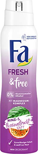 Fa Fresh&free Deo Minze & Passionsfrucht ohne Aluminiumsalze und Alkohol, 150 ml