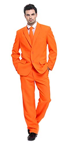 U LOOK UGLY TODAY Herren Anzug Party Weihnachts Kostüm Modisch Normaler Schnitt Festliche Anzüge Party Suits Einfarbig