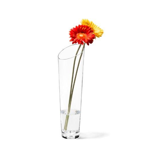 Leonardo Vase Dynamic, Höhe 40 cm, Durchmesser 12,5 cm, handgefertigtes Klarglas, 012305
