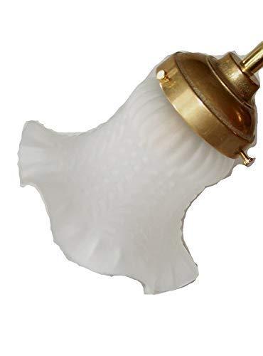 linoows Kleiner Jugendstil Lampenschirm Glasschirm Lampenglas satiniert weiß