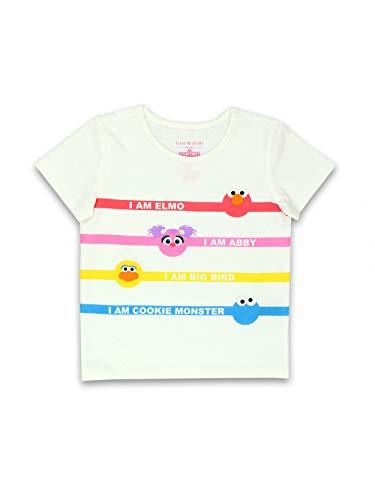 Isaac Mizrahi Loves Sesame Street Elmo Toddler Baby Short Sleeve T-Shirt Tee (18 Months, White)