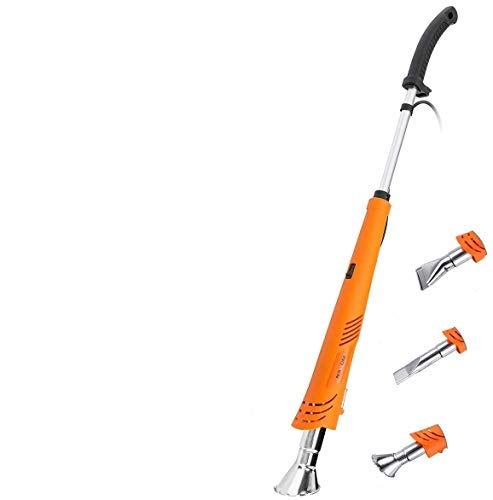 NASUM Weed Burner Electric Weed Killer Thermal Weeding Stick - 2000W 230V Up to 650°C, Environmentally Friendly, for Garden, Patio, Driveway (Orange)