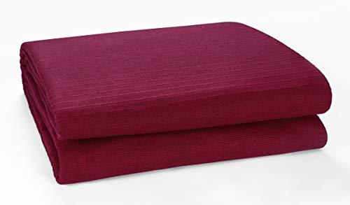 Indian Classic Rib Cotton Throw, Schlafsofa Throw Tagesdecke - 250 cm x 250 cm, 100