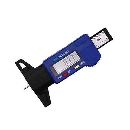 Conveniente Digital neumático del coche de la profundidad del neumático Medidor de espesor herramienta Medidor Medidor pies de rey banda de rodadura de neumáticos pastillas de freno de zapatos Sistema