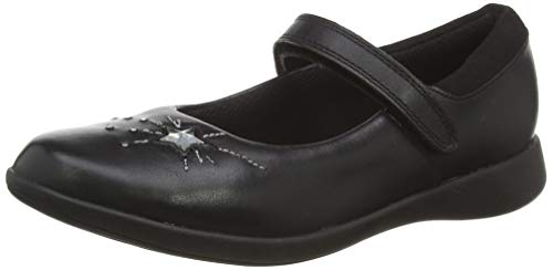 Clarks Etch Spark K, Sandalias Punta Cerrada Niñas, Negro (Black Leather Black Leather), 29 EU