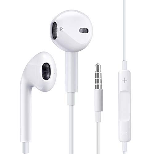 Auriculares internos de 3,5 mm,Cascos con Cable con Micrófono de Alta Sensibilidad,Control de Volumen y Sonido Puro,Compatible con el teléfono MP3/MP4/PC/Android/conector de 3,5 mm
