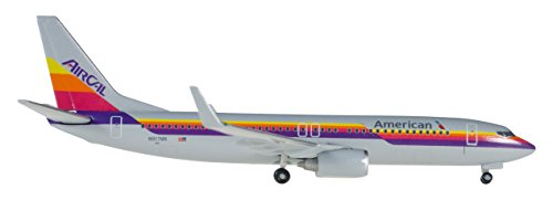 Herpa 529631 American Airlines Boeing 737-800 Air Cal Heritage Livery