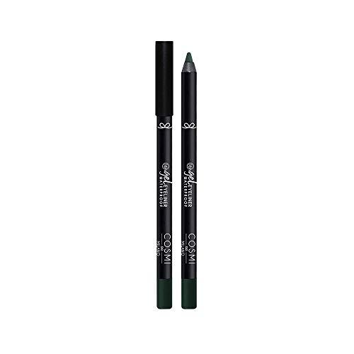 COSMI MILANO Wasserdichter Eyeliner Pinsel GEL EYELINER, Gel Augen Pencil mit Cremiger und Flüssiger Textur, ideal als Kajal in der Rima, Langlebig bis zu 16 Stunden, N.105 Grün
