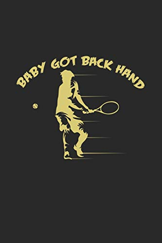 baby got back hand: 6x9 Tennis | lined | ruled paper | notebook | notes