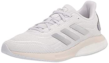 adidas Unisex Kid s Supernova Running Shoe,White/silver/chalk White,4.5 M US