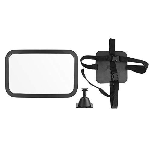 Espejo retrovisor, espejo retrovisor interior ajustable para automóvil, asiento trasero gran angular, monitor de fácil visualización para niños