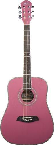 Oscar Schmidt OG1P Acoustic Guitar - Pink