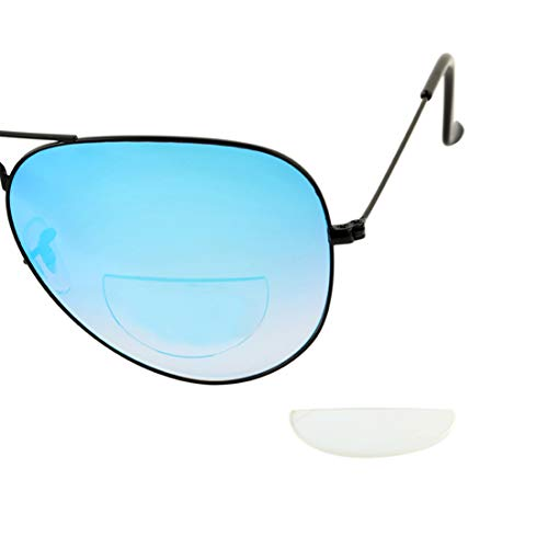 Reusable Stick On Bifocal Lenses Reader Magnifying Adhesive Reading Lens Sticker Sport Sunglasses Safety Glasses Magnifier Add On (Transparent, 2.0)