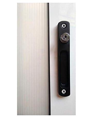 Cierre ventana sobreponer c/llave pulsador (negro): Amazon.es: Bricolaje y herramientas