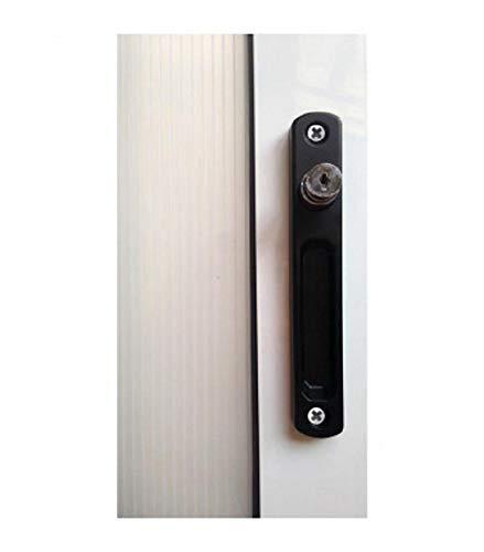 Cierre ventana sobreponer c/llave pulsador (negro)