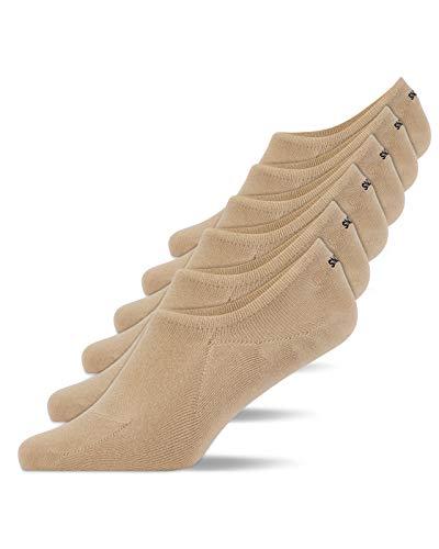 Snocks Sneaker Socken Kinder Beige Größe 35-38 6x Paar Sneaker Socken Damen Füßlinge Damen Sneaker Socken Sneakersocken Ballerina Socken Damen