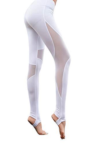 Uni-Wert Mallas Leggings Mujer Yoga de Alta Cintura Elásticos y Transpirables Super Suaves Pantalones Deportes para Running Gym Fitness Yoga Leggings Deportivos