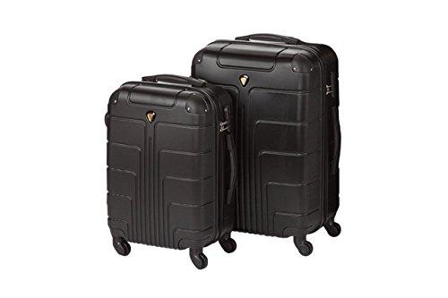Hartschale Kofferset New York 2-teilig Gr. L+XL, 65+75cm, 68+110 Liter 7 verschiedene Farben (schwarz)
