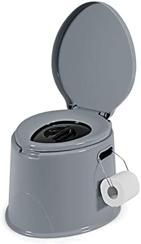 Giantex Portable Travel Toilet with Detachable Inner Bucket and Removable Toilet Paper Holder product image