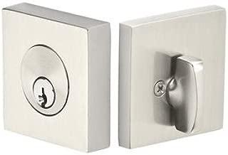 Emtek 8469US26 Square Brass Modern Single Cylinder Keyed Entry Deadbolt