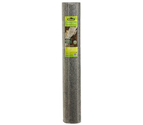 Dehner Trenn-Vlies, Oberflächentrennung, Unkraut- und Insektenschutz, 16 x 0.9 m, Vlies, hellgrau