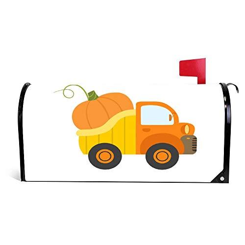 wendana Cute Truck mit Riesen-Kürbisseitenansicht, für Lebensmittel und Briefkasten, magnetisch, Vinyl, 45,72 x 53,3 cm