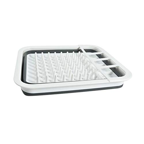 xiha Foldable Collapsible Washing Bowl Dish Drainer Reusable Kitchen Useful Tools(White