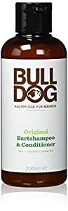 Alle unsere Produkte sind speziell für Männer entwickelt und mit erstaunlichen natürlichen Inhaltsstoffen angereichert Das Bulldog Original Shampoo & Conditioner enthält Aloe Vera, Leindotteröl und grünen Tee Speziell entwickelt, um den Bart zu reini...
