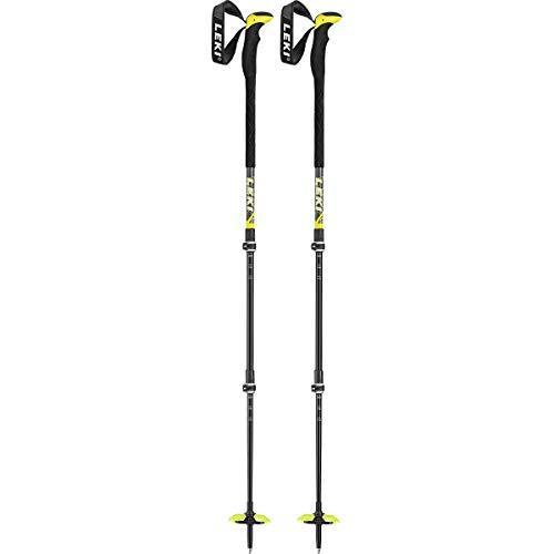 LEKI Aergon 3 Skistöcke, dunkelanthrazit-Neongelb-weiß
