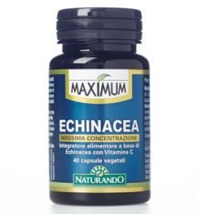 NATURANDO Maximum Echinacea 40 Capsule. Integratore Alimentare per Supportare il Sistema Immunitario...