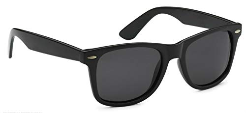 Sunglasses Classic 80's Vintage Style Design (Black Gloss, Polarized)