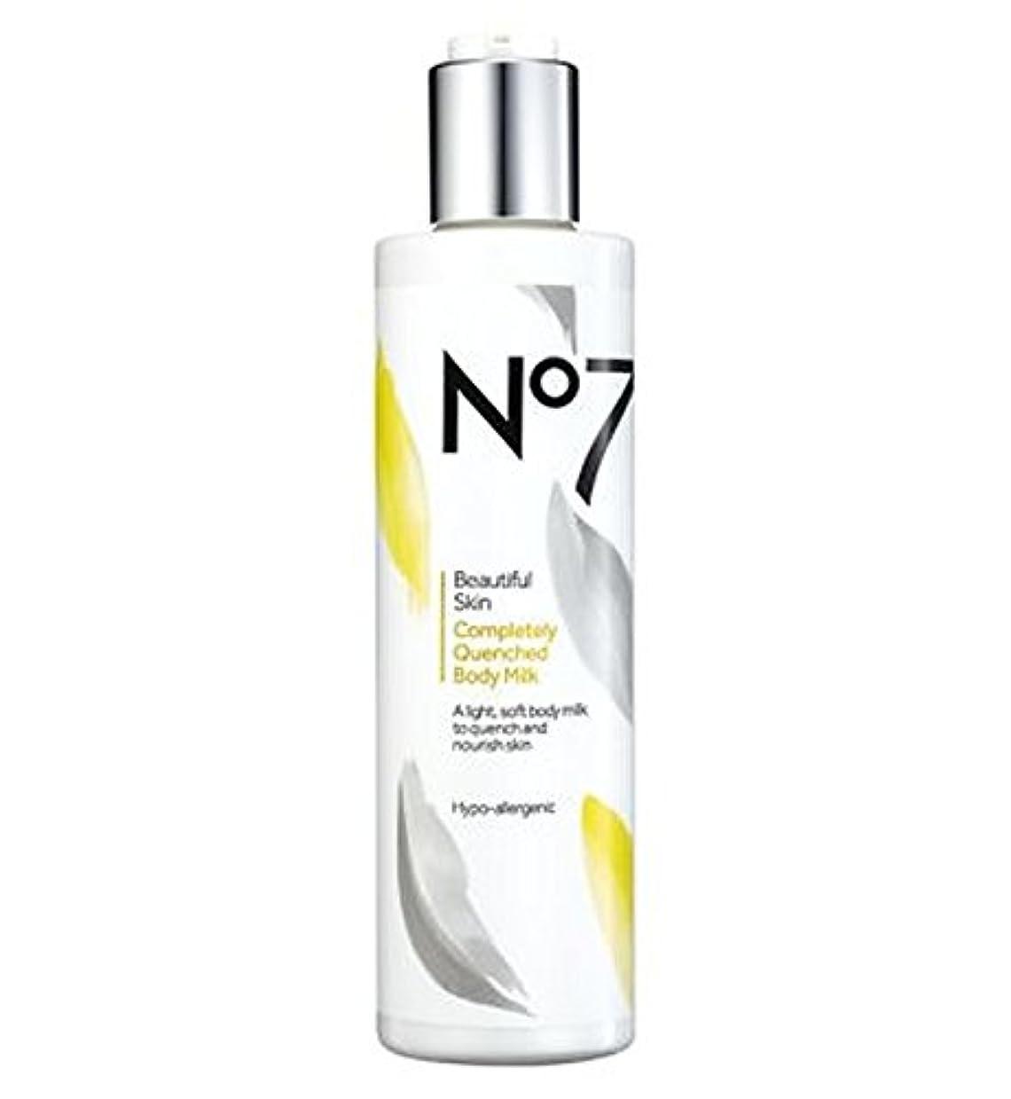 疎外現実的追加No7 Beautiful Skin Completely Quenched Body Milk - No7美しい肌完全に急冷ボディミルク (No7) [並行輸入品]