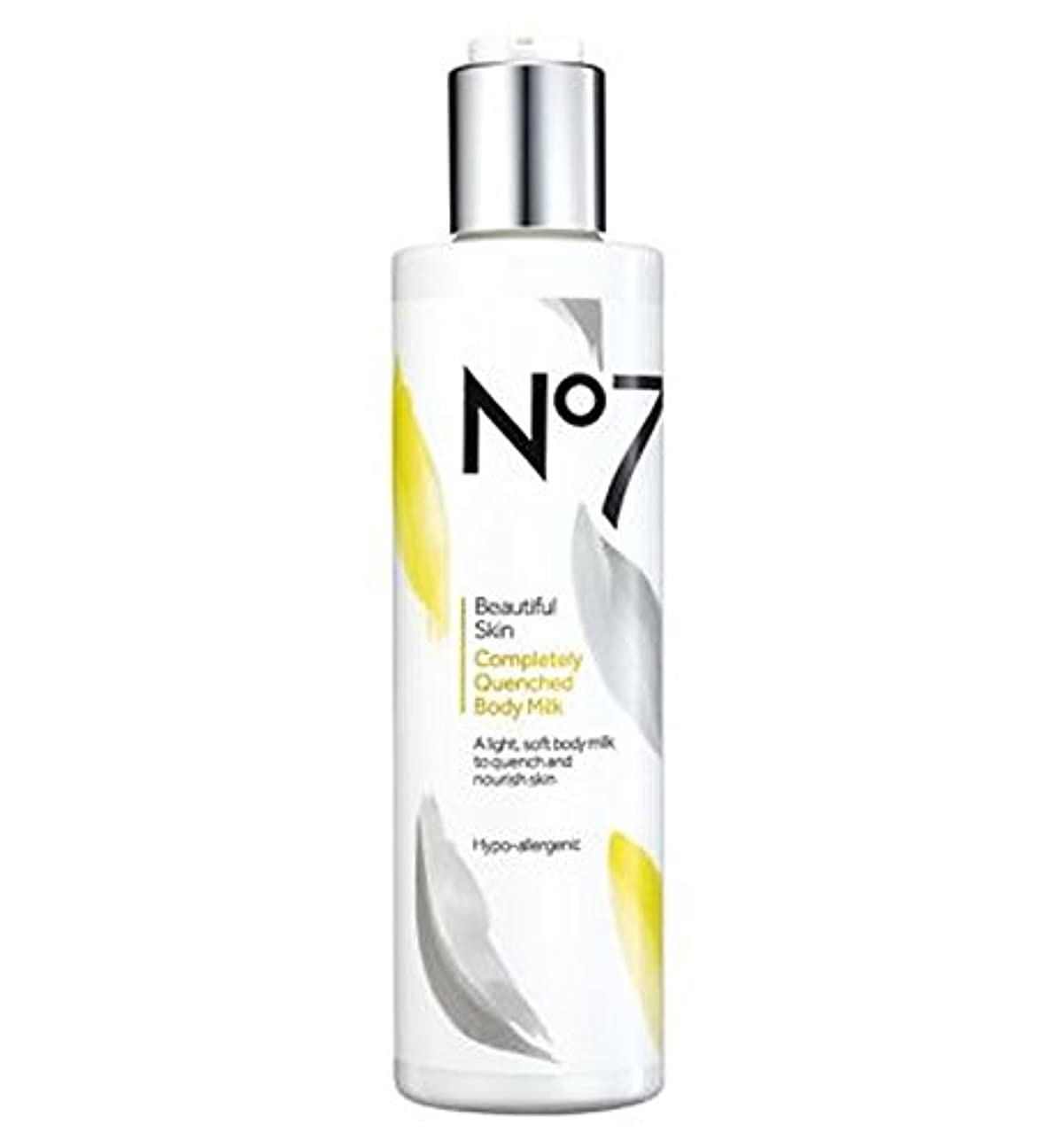 食べる急いでオーブンNo7美しい肌完全に急冷ボディミルク (No7) (x2) - No7 Beautiful Skin Completely Quenched Body Milk (Pack of 2) [並行輸入品]