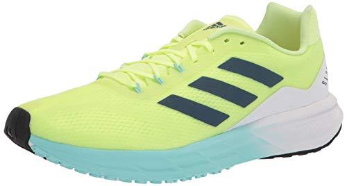 adidas Women's SL20 Running Shoe, Yellow/Crew Navy/Aqua, 7.5