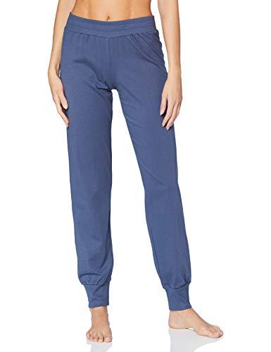 Schiesser Damen Langer Schlafanzug Set Pyjamaset, blaugestreift, 38