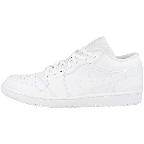 Nike Herren AIR Jordan 1 Low Basketballschuh, weiß, 45.5 EU