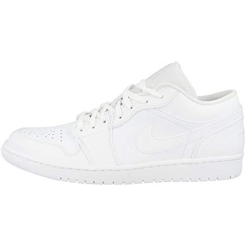 Nike Air Jordan 1 Low, Scarpe da Basket Uomo, White, 44 EU