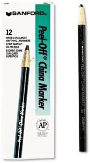 Sanford Peel-Off China Markers Max 77% OFF Black NEW before selling Dozen